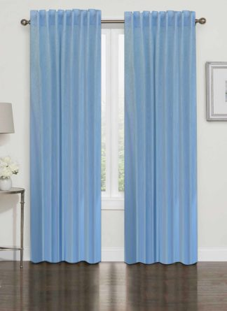 Plain Blue Curtain - Ramsha Capet