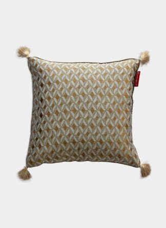 Gold & Beige Ethnic Cushion Cover - Ramsha Carpet
