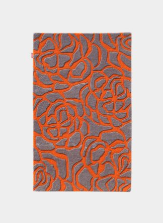 Red Floral Hand Tufted Rugs Ramsha Carpet Al 0002