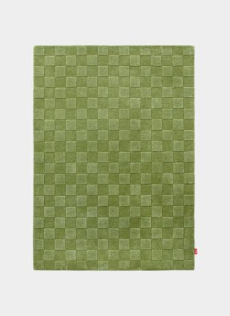 Green New Boxes Design Pattern Hand Tufted - Ramsha Carpet