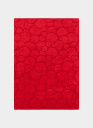 Bubble Design Red Hand Tufted - Ramsha carpet