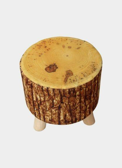 Stylish Wooden Pouf Ramsha SPF 14