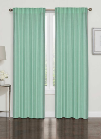 Green Plain Curtain -Ramsha Carpet-