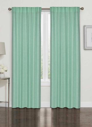 Green Plain Curtain -Ramsha Carpet-